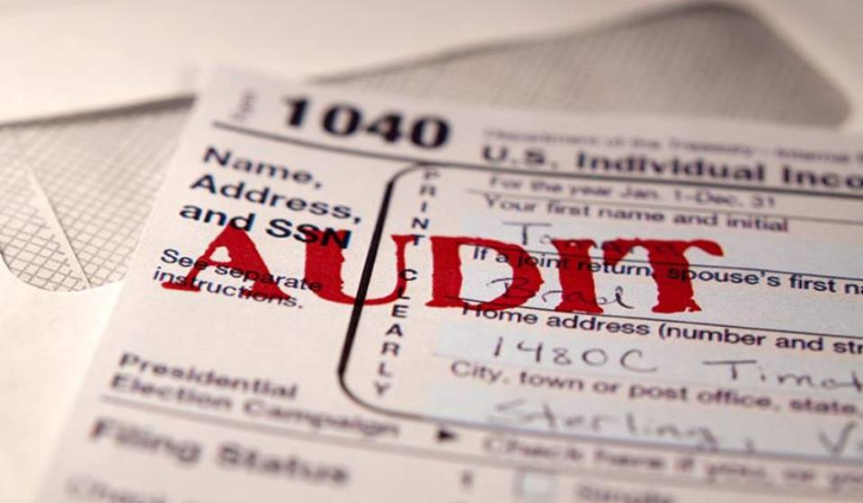 Audit stamp on tax return