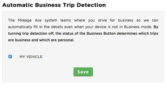 Automatic Business Trip Detection Setting