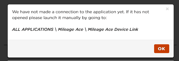 Device link no connection message