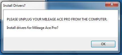 mileage tracker install driver dialog box